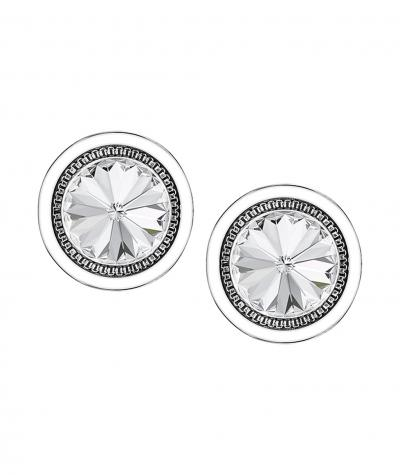 Stainless steel earrings 2 in 1 with Swarovski crystals