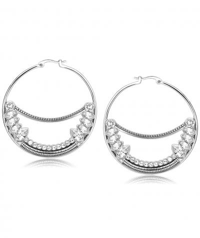 Stainless steel earrings with Swarovski crystals