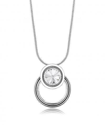 Stainless steel necklace with Swarovski crystal